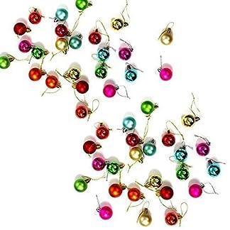 Robelli-50-Stck-Packung-Miniatur-glnzende-Matt-Weihnachtsbaum-Kugeln-in-Verschiedenen-Farben