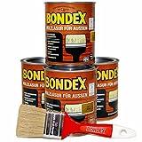 Bondex Holzlasur für Aussen 3L / 4 x 0,75L / inkl. 50mm Pinsel in Eiche