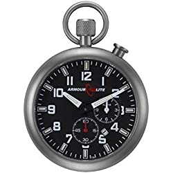 Esfera de color negro reloj despertador de tritio Reloj de bolsillo por Armourlite