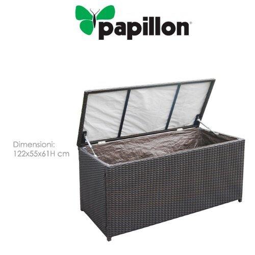 PAPILLON 8091225 - BAUL JARDIN RATAN 122X55X61 CM CON FORRO  COLOR MARRON