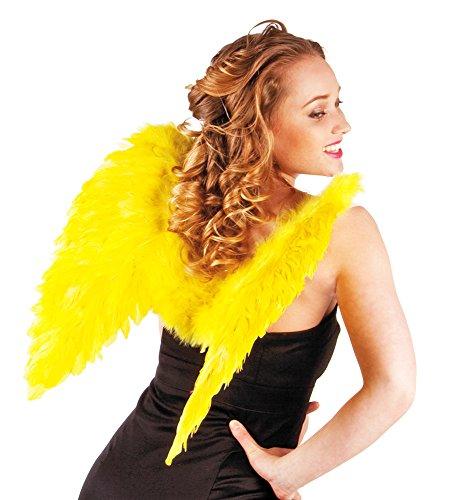 Engelsflügel Federn 50 x 50 cm (Flügel Gelber Engel Kostüm)