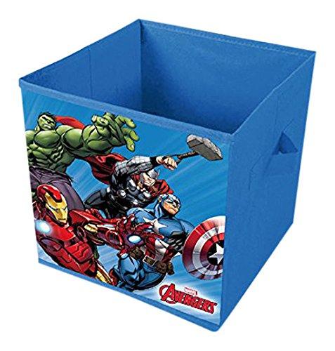 faltboxen stoff Unbekannt Sun City avd402296–Box Stoff guardacosas Zusammenklappbar, Design Avengers, Blau