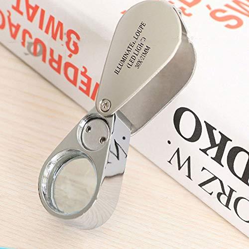 Tasche Schmuck Objektiv 30 X 21 MM Lupe Brille Lupe -