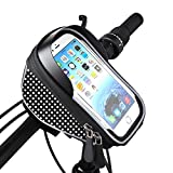 "#3: Smiledrive Bike Bicycle Handlebar Mobile Mount Bag Pouch-Waterproof Smart Phone Holder for 5.5"" iPhones, Samsung."