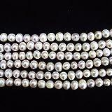 thetastejewelry 8-9mm Off redondo morado perlas de agua dulce perla cultivada 15pulgadas 38cm joyas haciendo collar curación