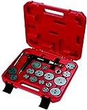 KS Tools 150.2000 Pack de 18 Piezas con Herramientas para pistones de Frenos, Inclusive husillo neumático, 18pcs, Set