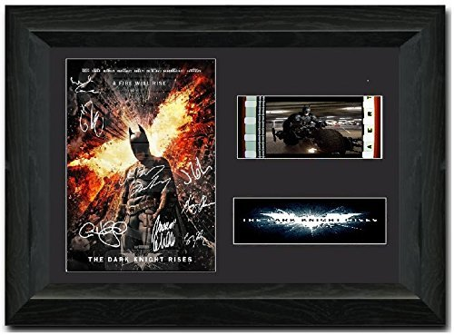 BATMAN 35mm Film Cell Display Signed Stunning Collectible The Dark Knight rises