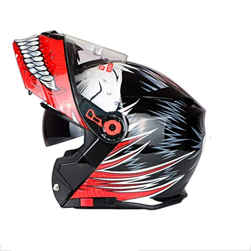 Casco moto doppio Bluetooth Lens Anti Fog Sunproof con Flip Flip Up Motocross Caschi anti crash Downhill modulari Racing Off Road Safety Caps
