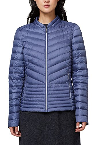 ESPRIT Collection Damen Jacke 018EO1G008, Blau (Grey Blue 420), Small