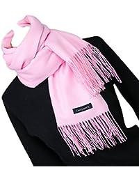 4eb09f8435f3 iShine Unisexe Echarpe Longue Mode Foulard Unicolore avec Frange pour  Amoureux Fiancés Chaud Hiver Automne Printemps Cache
