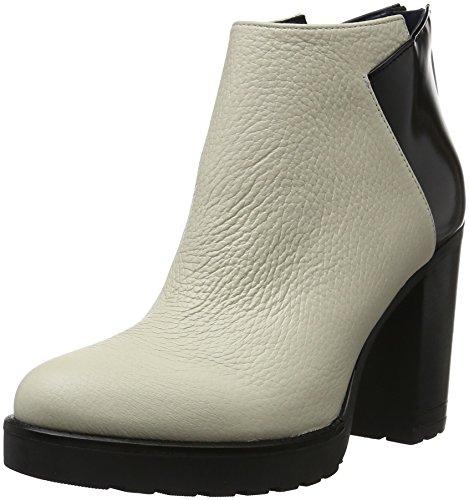 Pollini Shoes, Chaussures Bateau Femme Blanc (Avory 00B)