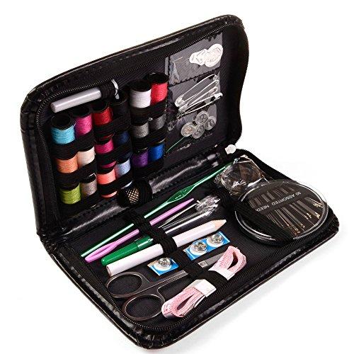 Ailiebhaus Kit da cucito Household portatile Accessori per cucire Strumenti Borsa per casa, viaggio e Emergenza Nero - Cucire Caddy