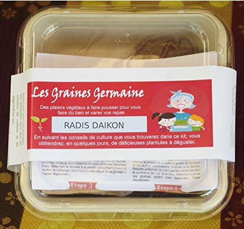 Kit pour plantules - Radis Daïkon - graines et substrat bio