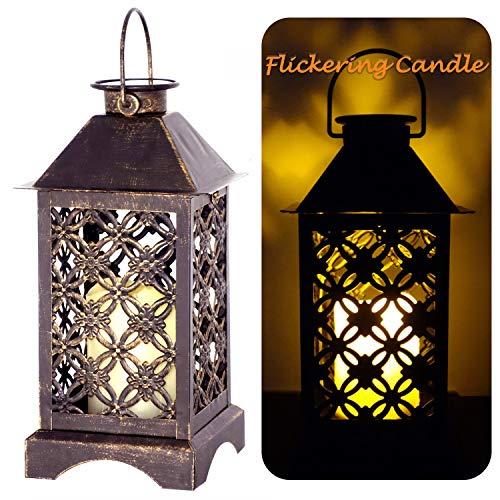 Lámpara solar exterior de bronce trébol de 4 hojas   Lámpara solar...