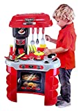 #9: Hi-Widze Little Chef Boy's and Girl's Kitchen Set Play with Light & Sound Toy (Red) - 35 PCS