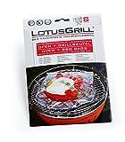 LotusGrill Grillbeutel Alufolie Ofen 8 Stück Extra Starke und Klarsichtfolie, 35 cm x 24 cm, 230 Grad, silber