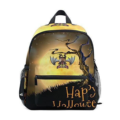 COOSUN Halloween Vampire Bat Mini Kinderrucksack Pre-School Kindergarten Kleinkind-Tasche Mehrfarbig