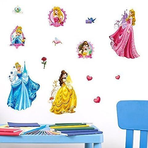 Disney 'Princess' 3D Wall Stickers Self-adhesive Wall Art Mural Decals Nursery Kindergarden Baby Toddler Children Kids Girls Room