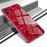 Ostop Coque pour iPhone XR,Étui Motif Coquillage Brillante Lisse Dur Housse Ultra...