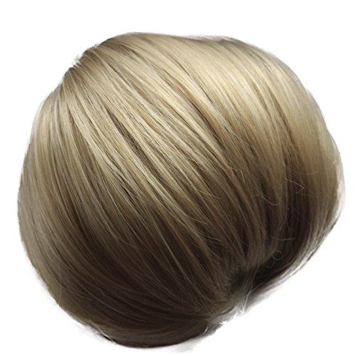 PRETTYSHOP Dutt Haarteil Zopf Haarknoten Hepburn-Dutt Haargummi Hochsteckfrisuren hellblond mix #25/613 HD24