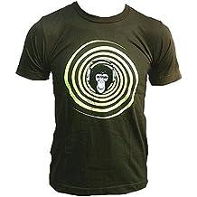T-shirt da uomo Ticila Kaki Army Green VIP STAR DJ APE MONKEY Neon vers pulpito Club wear Scratch technikus Club House iony Unit Start cuffie Superstar 24 Ore turn table G Set mybohi