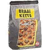 Braai Ketts 4 kg Briquettes de charbon de qualité supérieure, charbon de bois, incandescent en env. 35 minutes, idéal pour les barbecues boules, les fumoirs, au camping ou lors les festivals, certifié FSC
