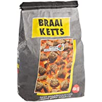 Ultranatura Braai Ketts Carbón Vegetal, c Alidad con Certificación, 4 kg, Negro, 26x17x40 cm