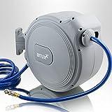 BITUXX Druckluft Schlauchtrommel 20m automatik Druckluft Schlauchaufroller 20 Meter 1/4
