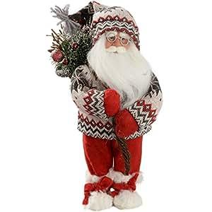 WeRChristmas 42059006 Pupazzo di Babbo Natale, 12 inch (30 cm)