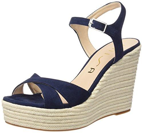 Unisa Morga_ks, Sandales à plateforme femme Bleu - Bleu marine