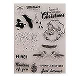 Yyooo Silikon-Stempel, transparent, für Fotoalbum, Scrapbooking, Foto, Karten, Buch, Wandfenster, Dekoration (Weihnachten)