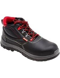 Gsa Chaussures De Protection Homme Noir Noir En Cuir, Couleur Noir, Taille 39