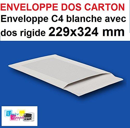 Lote de 5con sobre blanca, Pochette dos cartón rígido C4229x 324bolsillo, bolsa rígida para enviar sin plier. L envolvente est cartonnée AU verso sobre sonido trasera