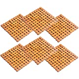 Kuber Industries Bamboo 6 Piece Heat Pad Set - Wooden