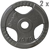 BodyRip Tri Grip Olympic 2x 10kg Gewichte