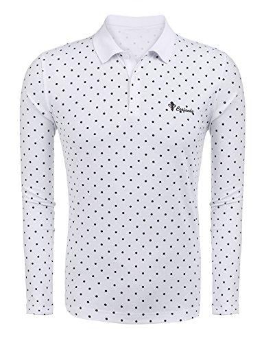 Wixens Herren Langarmshirt Rundhals Sticker Regular Fit Einfarbig Langarm Shirt Long Sleeve für Männer -