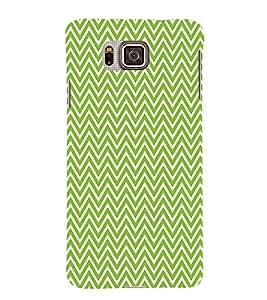 Green Chevron 3D Hard Polycarbonate Designer Back Case Cover for Samsung Galaxy Alpha G850