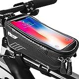 ODSPTER Fahrradtasche Rahmentasche, Fahrrad Handytasche Wasserdicht mit TPU Touchscreen Fahrradtasche Fahrrad Oberrohrtasche für iPhone 8 Plus/X/Samsung S8 Plus/S9 Handy