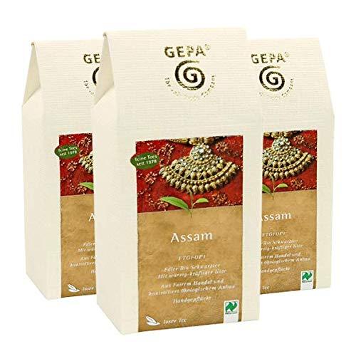 GEPA Feiner Assam, 3er Pack (3 x 100 g) - Bio