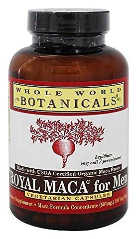 Whole World Botanicals, Royal Maca for Men, 500 mg, 180 Gelatinized Veggie Caps