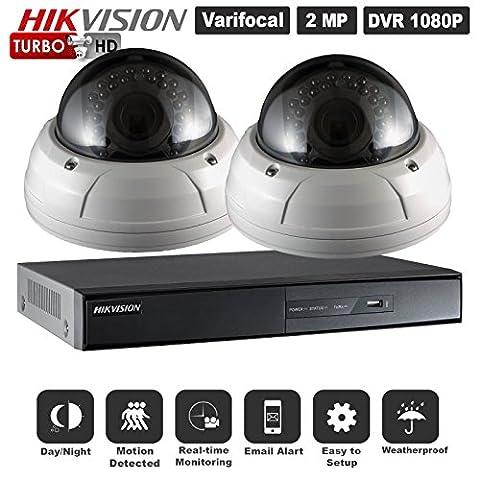 4canaux HD TVI HIKVISION DVR et 2couleur 1080p TVI caméras