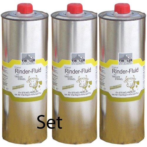 franzosenoel Tiroler Steinöl - Bremsenöl, Set mit 3 Stück a 1000 ml zum Vorteilspreis | Fliegenöl gegen Insekten, Fliegen, Bremsen, Zecken usw