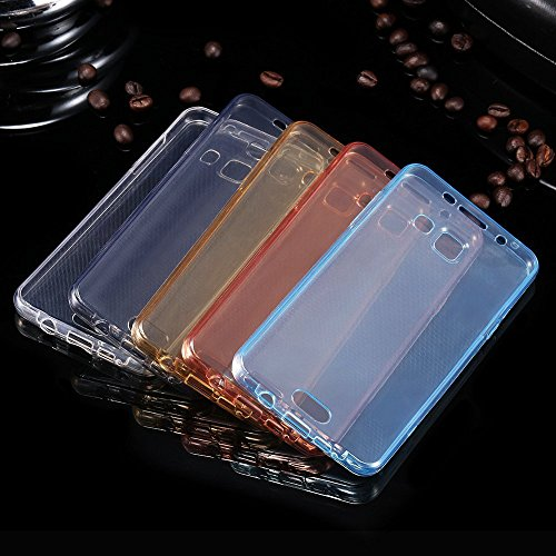 Etsue Clear Case for Samsung Galaxy J3 2015/2016, Full Body (Back & Front) 360 Degree Protective Transparent Rubber Case for Samsung Galaxy J3 2015/2016, Crystal Clear Slim Fit Shockproof Silicone Gel Case Cover for Samsung Galaxy J3 2015/2016 with Blue Stylus Pen and Bling Glitter Diamond Dust Plug Colors Random-Clear