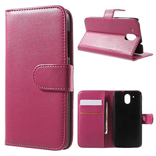 Wallet Leather Stand Tasche Hüllen Schutzhülle for HTC Desire 526 / 526G+ Dual SIM - Rose