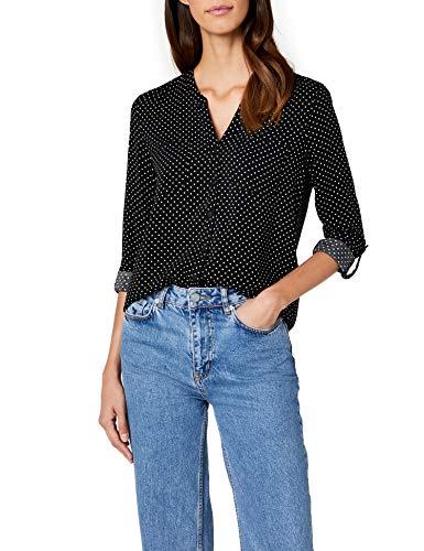 ONLY Damen Bluse onlFIRST LS Pocket AOP Shirt NOOS WVN Mehrfarbig (Black Cloud Dancer Dots) 40