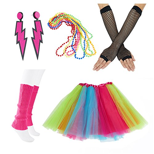 80s Fancy Outfit Costume Set for Ladies