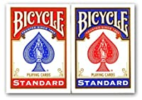 4 Decks von Bicycle, (2 x rot und 2 x blau) 4 Decks of Bi...