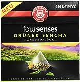 Teekanne foursenses grüner Sencha Pyramidenbeutel, 5er Pack (5 x 29 g)