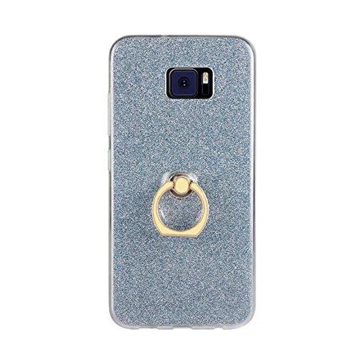 EKINHUI Case Cover Soft Flexible TPU Back Cover Case Shockproof Schutzhülle mit Bling Glitter Sparkles und Kickstand für Asus ZenFone 4 VV520KL ( Color : White ) Blue