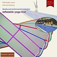 Pennytupu Universal Inflatable Gymnastics Mat with 700W Air Pump Portable Air Tumbling Pad Durable Yoga Mat Taekwondo Pad